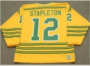 24 Men Youth women Vintage #12 PAT STAPLETON Chicago Cougars 1973 WHA Hockey Jersey Size S-5XL or custom any name or number