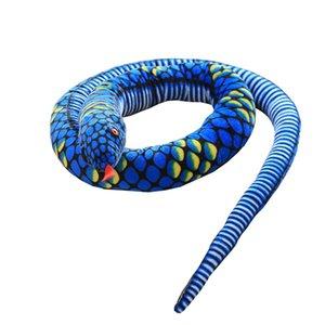 uyku kaliteli bebek büyük Boa yılanı ile Çocuk eğlence peluş oyuncak sevimli yazılım tutma yastık