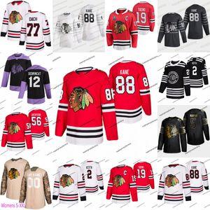 88 Patrick Kane des Blackhawks de Chicago Duncan Keith 2020 Jonathan Toews Erik Gustafsson Andrew Shaw Kirby Dach Strome Chris Kunitz Hockey Jersey