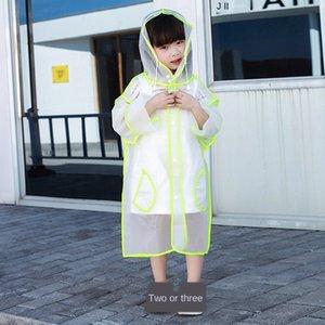 mTNcL Kinder transparent nette Regenmantel Baby 1-6 Jahre alt Kindergarten Mädchen Primary Mantelmantel-Schüler Kinder wasserdicht pon