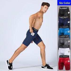 2020 Men Quick Dry Short Running Leggings Men's Compression Running Tights Gym Fitness Sport Shorts Leggings Male Underwear