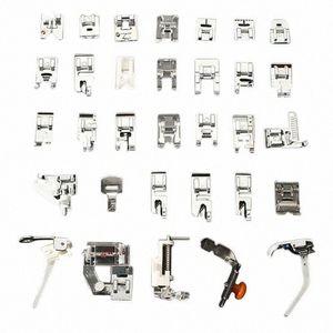 Pés 32PCS Presser conjunto de acessórios para máquina de costura Low Shank Bordados Artes Máquina, Artesanato Costura TB Venda EJgo #