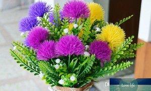 Colourful cute silk ball chrysanthemum flower fake artificial dandelion 5 heads bouquet Outdoor garden decoration flower plant