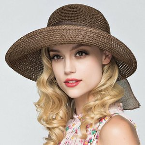 Meihuida Womens New Summer Casual Women Lady Straw Hat Sun Hats Panama Cap Summer Beach Beachwear Sun Hat