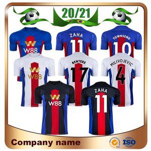20/21 Crystal Home Soccer Jersey 2020 Away Zaha Sakho Benteke Soccer Shirt Milivojevic Townsend J. uniforme da calcio