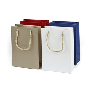 100pcs lot Small Kraft Paper Gift Bag With Handle Festival Jewelry Bags Wedding Wrapping Supplies YT0025