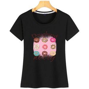 Komik Donut Tasarım Donut Endişe Komik Kadınlar Tişörtlü Hediye BuildingCharacter Kısa Kollu