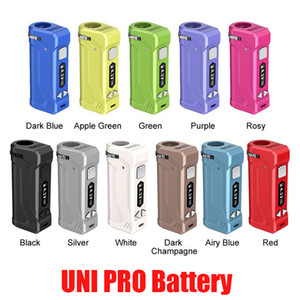 Original Yocan Uni Pro Box MOD 650MAH Préchauffez la batterie VV pour une cartouche d'atomiseur d'huile de 510 épaisseur ECIG avec écran OLED 100% authentique