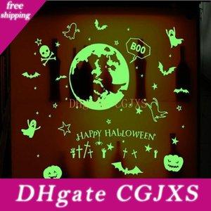 Halloween noctilucentes Brilham no escuro Etiqueta de incandescência Wall Stickers Decor Partido Horrible assustadores Decorações favores para a janela e teto