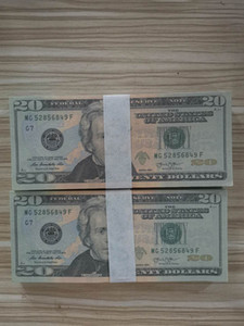 Dollaro all'ingrosso realistico Pretend Paper Money 20/50 / 100 Dollari Copia banconota Prop Denaro 100pcs / pack