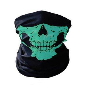 Череп Волшебной маска Halloween Cosplay маски велосипедов Череп Половина маска Призрак шарф Бандан Neck Warmer партия оголовье Магия повязки AHD1130