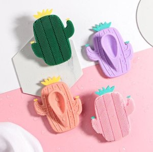 Face wash and bath brush Silicone soft beauty facial cleansing instrument face wash artifact Pore cleaning brush pineapple cactus brush
