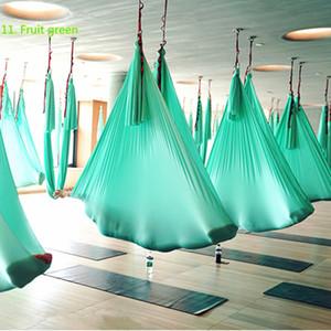 Top Quality ad alta resistenza di yoga aerea Hammock 4Mx2.8M set completo di 20 colori Aria Amaca-40 Denier Nylon W / moschettoni catena