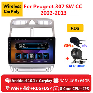 2 din 8 core android 10 car radio auto stereo for 307 sw cc 2002 2004 2005 07 2013 navigation GPS DVD Multimedia Player car dvd
