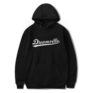 Men's Dreamville J. Cole Logo Logo Print Sweat-shirt Automne Spring Sweat à capuche Hip Hop Pullover Top