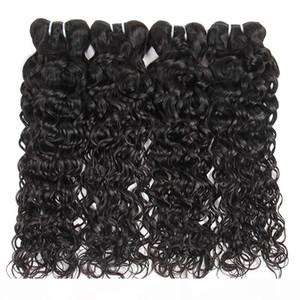 10A Brazilian Virgin Hair Water Wave 4 Bundles Unprocessed Natural Wave Human Hair Extensions Peruvian Indian Malaysian Hairstyles