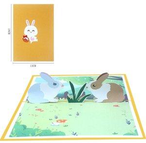 10pcs main Kirigami Origami Cartes de voeux 3D carte d'invitation pour Baby shower de Noël fête de mariage cadeau d'anniversaire