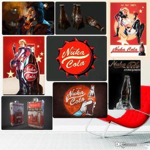 2020 Hot Nuka Cola Retro metal Sinais Bar Pub placa decorativa Fallout Wall Stickers amantes do jogo Art Tin Pintura Lojas Home Decor Vintage