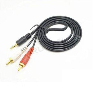 Cgjxs5ft 1 .5m صوت ستيريو 3 .5mm ذكر جاك لشارع 2RCA كابل الصوت محول 3 .5mm إلى 2 RCA شحن مجاني