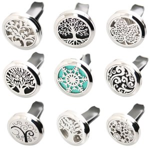 More Than 50 styles 30mm Diffuser 316 Stainless Steel Pendant Car Aroma Locket Essential Car Diffuser Oil Lockets Free 100pcs Pads