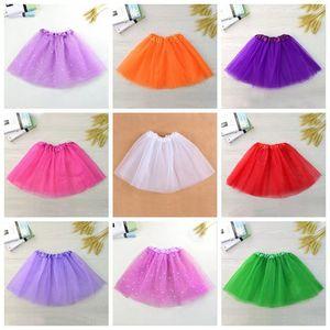Kız bebekler Etek Saydam 3-Katmanlı Net İplik Çocuk Giyim 14 Renkler Etek Kız Balo Tutu Etek Çocuk Giyim DHF833