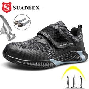 SUADEEX Chaussures de sécurité pour hommes Steel Toe Construction légère Chaussures de protection anti-chocs travail de sécurité espadrille pour les hommes