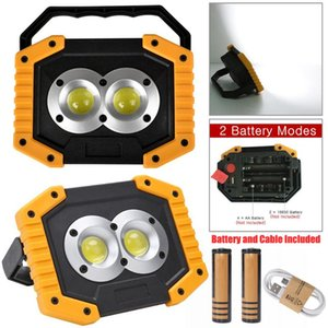 USB Rechargeable LED COB Work Light Portable Spotlights Waterproof Outdoor Emergency Searchlight Camping Lamp with Battery D30