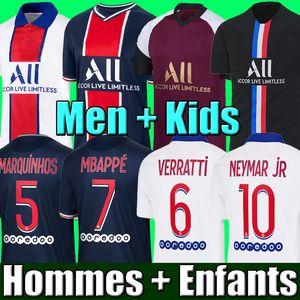 NEYMAR JR MBAPPE ICARDI JORDAN PSG 20 21 soccer jersey Fußball Trikots 2020 2021 Paris Saint Germain Trikot Survêtement Fußball Kit Fußball Shirt Frauen Fußball Trikot