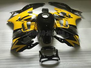 ABS Fairings kit+gifts for HONDA CBR600 F3 1995 1996 CBR600 95 96 CBR600 F3 95-96 body cover+windscreen #YELLOW BLACK #82BG2