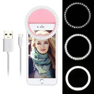 Cep Telefonu Smartphone Yuvarlak Taşınabilir Selfie'nin Makyaj Ayna için Cep Telefonu Işık Klip Selfie'nin LED Oto Flaş
