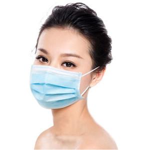 3 Ebene Einweg-Gesichtsmaske mit Elastic Earloop 50 Stk / Packung Anti-Staub-Schutz Maske Im Lager DHL Schnellen Versand
