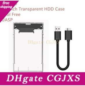 2 0.5 인치 고속의 USB 3 .0 투명 HDD 케이스 도구 무료 Uasp 하드 드라이브 인클로저와 소매 상자