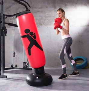 Fitness Pump Punching With Inflatable Muay Sandbag Sports Training Back Tumbler Pressure Relief Boxing Bag Air 1.6m Tvswa