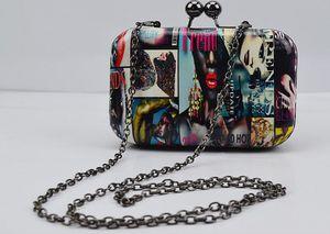 atacado Designer-Female saco na Europa e 2016 verão nova shell mini-bolsa bolsa de graffiti com bolsa de ombro único, saco da noite