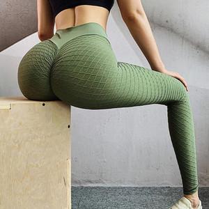Mulheres cintura alta Yoga Pants pêssego nádega Musculação Sports calças justas Pant Tridimensional Calças Shaping Buttock fitness