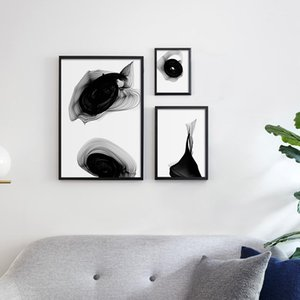 Nordic Black White Art Wall Art Canvas Painting Posters Prints Abstract Line Picture for Living Room Mordern Home Decor