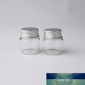 20ML واضح زجاج زجاجات فارغة الالومنيوم كاب برغي رسالة أتمنى كاندي ماكياج مستحضرات التجميل زجاجات عينة جرة الزيوت العطرية فيال الحاويات