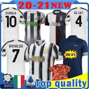 2021 RONALDO 7 Maillots de los niños kits de camiseta de fútbol Juventus camiseta de fútbol Dybala DE Ligt rabiot Bernardeschi BUFFON Mandzukic de los hombres de