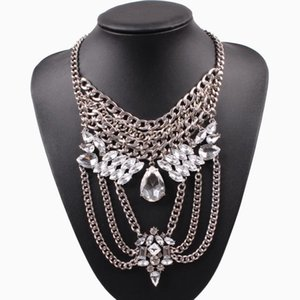 Hot Sale New Fashion Chunky Statement Necklace Metal Chain Choker Pendant Summer Bib Luxury Necklace for Women Jewelry