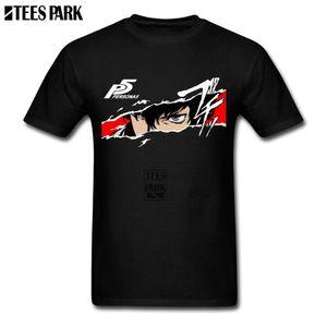 Geek engraçado camisetas Protagonista Critical Hit Persona5 Branded Tees camisas Cosplay Verão Camisetas Júnior Humorous Personality