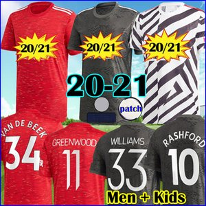 عدد المعجبين لاعب مانشستر 2021 متحدين UTD VAN DE BEEK 34 قمة مجموعة BRUNO FERNANDES SANCHO لكرة القدم جيرسي RASHFORD غرينوود عدة 20 21 رجل + أطفال
