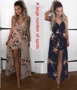 M12jS 2020 verão xia ji Qun impressa jumpsuit 2020 moda verão xia ji Qun Moda saia impresso saia jumpsuit