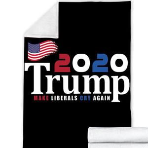 25style Trump 2020 Blankets 200*150cm 3D Printed Trump Blanket 2 Layer Winter Throw Fleece Blanket Make America Great Again by sea GGA3638
