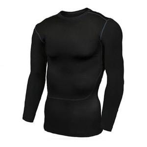 Базовый слой Колготки рубашки людей, бегущих Рубашка Кожа Quick Dry Сжатый дышащий Гибкая Длинные рукава O шеи Спортивный инвентарь Трикотажные изделия