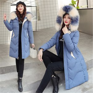 Ladies Down Padded Jacket Fashion Trend Thickened Plush Zipper Fly Pocket Coats Designer Female Winter Keep Warm Mid-length Outerwear