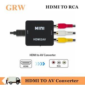 New Arrival HDMI TO AV Converter HD Video Converter Box HDMI to RCA AV CVSB L R Video 1080P Mini AV Support NTSC PAL