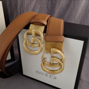 Pretina de lujo para los hombres diseñador de las mujeres de alta calidad de carta cintura con botones giró 38 mm para los amantes con el rectángulo de envío 2073104B