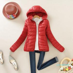 Sıcak Satış Sıcak Kış Parka Ceket Kaban Bayan Kadın Ceket İnce Kısa yastıklı Kadınlar 6 renk baskı Ücretsiz Kargo Yükseltme