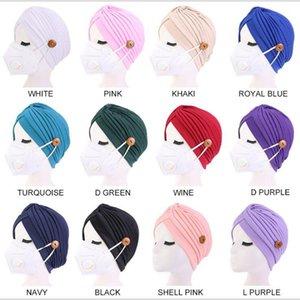 12colors Turbante Cappello femminile puro HeadBand pulsante asciugamani fascia Headwear Sonno Cappello per adulti Bandana Capelli Accessori YYA402 SPEDIZIONE DEL MARE