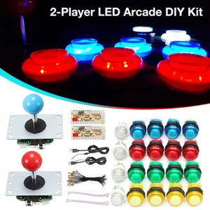 Round Game Joystick Mobile Phone Rocker for Arcade Game Machine DIY Arcade Accessories Gamepad Set